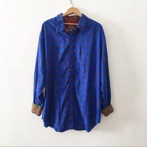 ROBERT GRAHAM | Plaid Emboirdered Cuff Shirt